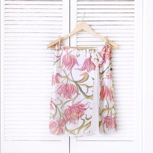 Anthro Parameter Silk Floral Mini Skirt